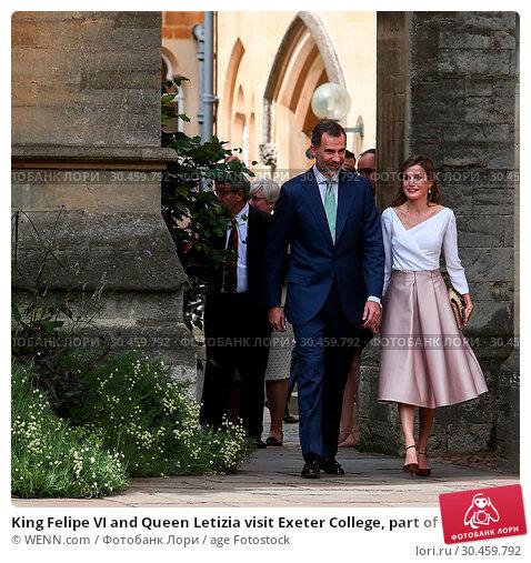 King Felipe VI and Queen Letizia visit Exeter College, part of Oxford... (2017 год). Редакционное фото, фотограф WENN.com / age Fotostock / Фотобанк Лори