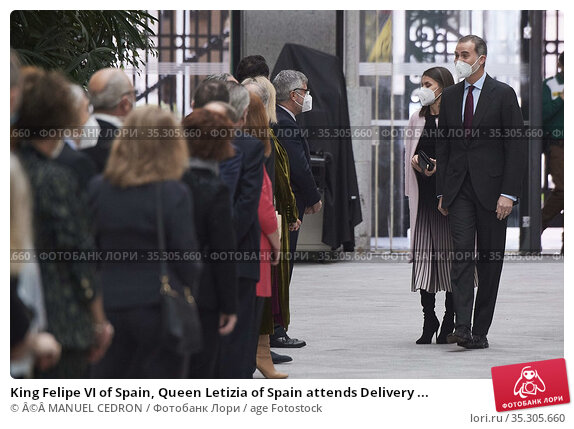 King Felipe VI of Spain, Queen Letizia of Spain attends Delivery ... Редакционное фото, фотограф © MANUEL CEDRON / age Fotostock / Фотобанк Лори