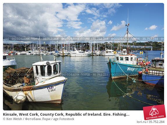 Kinsale, West Cork, County Cork, Republic of Ireland. Eire. Fishing... Стоковое фото, фотограф Ken Welsh / age Fotostock / Фотобанк Лори