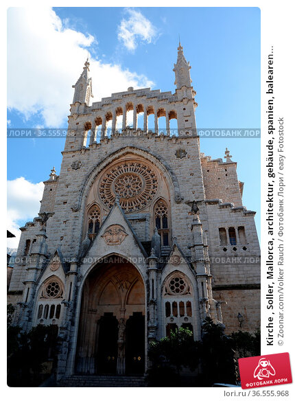 Kirche , Soller, Mallorca, architektur, gebäude, spanien, balearen... Стоковое фото, фотограф Zoonar.com/Volker Rauch / easy Fotostock / Фотобанк Лори