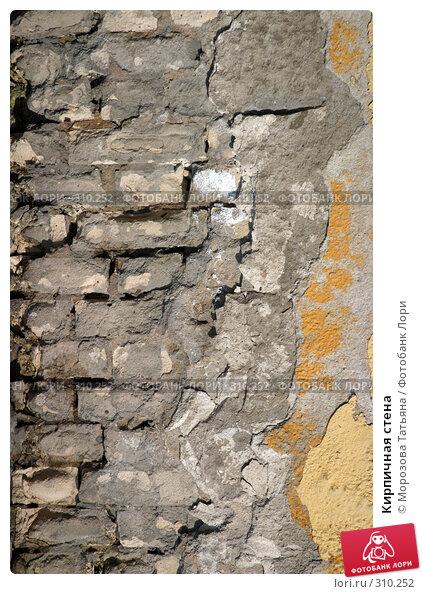 Купить «Кирпичная стена», фото № 310252, снято 6 апреля 2005 г. (c) Морозова Татьяна / Фотобанк Лори