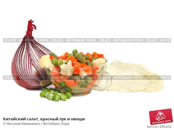 Купить «Китайский салат, красный лук и овощи», фото № 276612, снято 24 апреля 2008 г. (c) Наталия Евмененко / Фотобанк Лори