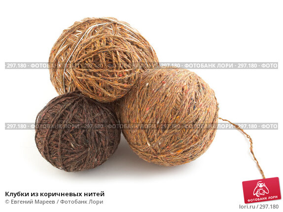 Клубки из коричневых нитей, фото № 297180, снято 23 мая 2008 г. (c) Евгений Мареев / Фотобанк Лори