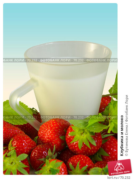 Клубника и молоко, фото № 70232, снято 9 августа 2007 г. (c) Бутинова Елена / Фотобанк Лори