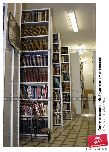 Купить «Книги стоящие в библиотечном стеллаже», фото № 243608, снято 28 декабря 2007 г. (c) Harry / Фотобанк Лори