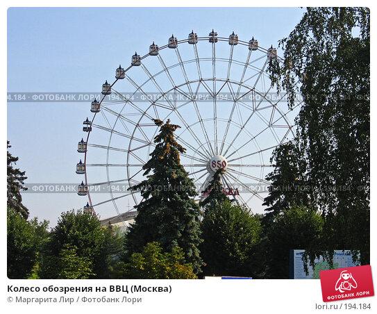 Колесо обозрения на ВВЦ (Москва), фото № 194184, снято 5 сентября 2007 г. (c) Маргарита Лир / Фотобанк Лори