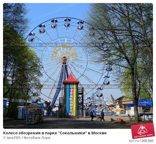 """Колесо обозрения в парке """"Сокольники"""" в Москве, эксклюзивное фото № 268660, снято 29 апреля 2008 г. (c) lana1501 / Фотобанк Лори"""