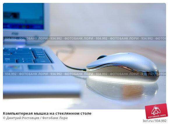Купить «Компьютерная мышка на стеклянном столе», фото № 934992, снято 4 ноября 2008 г. (c) Дмитрий Ростовцев / Фотобанк Лори