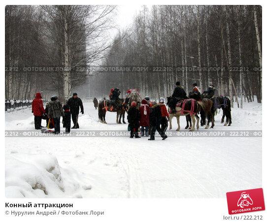 Конный аттракцион, фото № 222212, снято 24 февраля 2008 г. (c) Нурулин Андрей / Фотобанк Лори