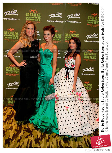 Купить «Korie Robertson, Sadie Robertson, Bella Robertson at arrivals for DUCK DYNASTY The Musical Opening Night, Masquerade Stage at Rio All_Suite Hotel & Casino...», фото № 28930588, снято 22 августа 2018 г. (c) age Fotostock / Фотобанк Лори