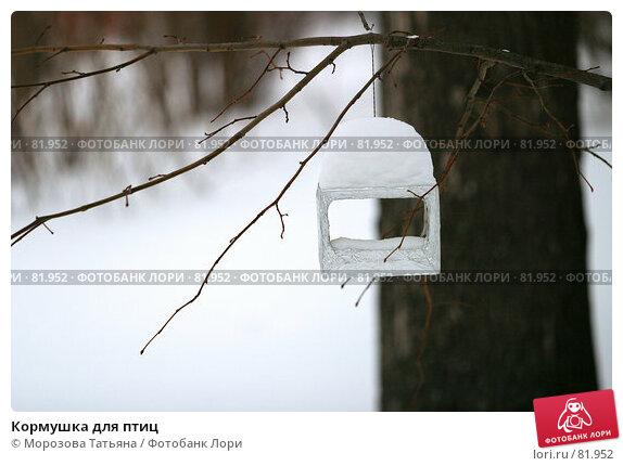 Купить «Кормушка для птиц», фото № 81952, снято 21 февраля 2006 г. (c) Морозова Татьяна / Фотобанк Лори