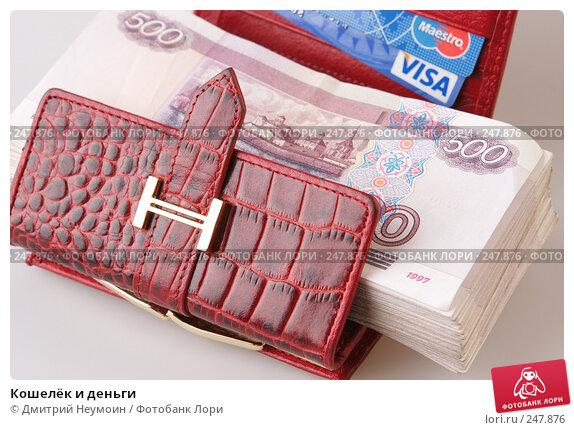 Кошелёк и деньги, эксклюзивное фото № 247876, снято 8 апреля 2008 г. (c) Дмитрий Неумоин / Фотобанк Лори