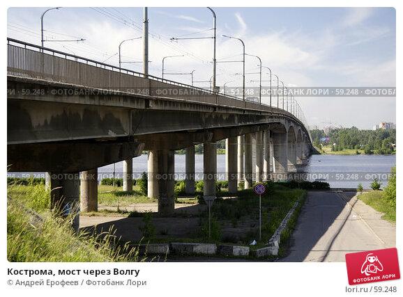Кострома, мост через Волгу, фото № 59248, снято 29 июня 2007 г. (c) Андрей Ерофеев / Фотобанк Лори