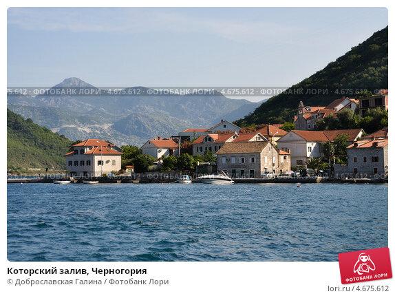 Купить «Которский залив, Черногория», фото № 4675612, снято 26 июня 2012 г. (c) Доброславская Галина / Фотобанк Лори