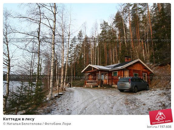Коттедж в лесу, фото № 197608, снято 16 декабря 2007 г. (c) Наталья Белотелова / Фотобанк Лори