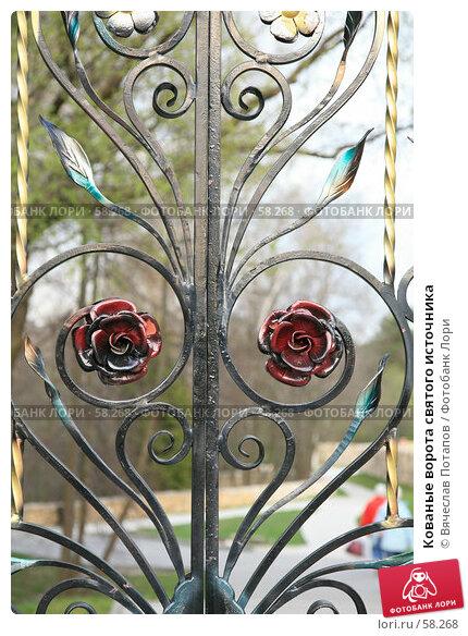 Кованые ворота святого источника, фото № 58268, снято 29 апреля 2007 г. (c) Вячеслав Потапов / Фотобанк Лори