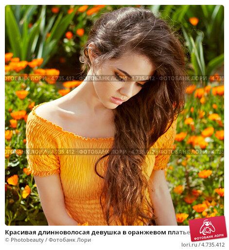 фото красивых девушек брюнеток с длинными волосами
