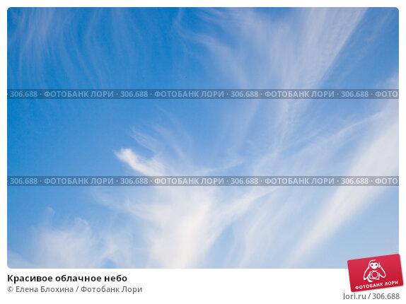 Купить «Красивое облачное небо», фото № 306688, снято 26 мая 2008 г. (c) Елена Блохина / Фотобанк Лори