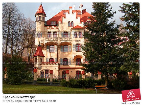 Красивый коттедж, фото № 45320, снято 19 января 2007 г. (c) Игорь Ворончихин / Фотобанк Лори