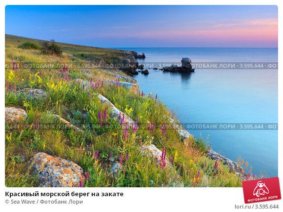 Купить «Красивый морской берег на закате», фото № 3595644, снято 19 мая 2012 г. (c) Sea Wave / Фотобанк Лори