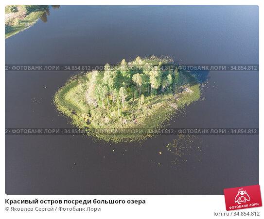 Красивый остров посреди большого озера. Стоковое фото, фотограф Яковлев Сергей / Фотобанк Лори