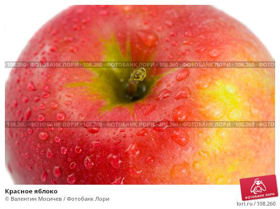 Красное яблоко, фото № 108260, снято 31 марта 2007 г. (c) Валентин Мосичев / Фотобанк Лори