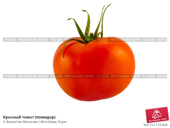 Красный томат (помидор), фото № 112424, снято 2 февраля 2007 г. (c) Валентин Мосичев / Фотобанк Лори