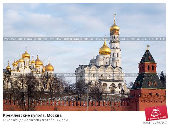 Кремлевские купола. Москва, эксклюзивное фото № 286352, снято 11 февраля 2008 г. (c) Александр Алексеев / Фотобанк Лори