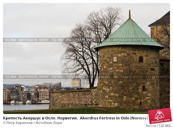 Крепость Акершус в Осло. Норвегия.  Akershus Fortress in Oslo (Norway), фото № 132984, снято 25 ноября 2007 г. (c) Петр Кириллов / Фотобанк Лори