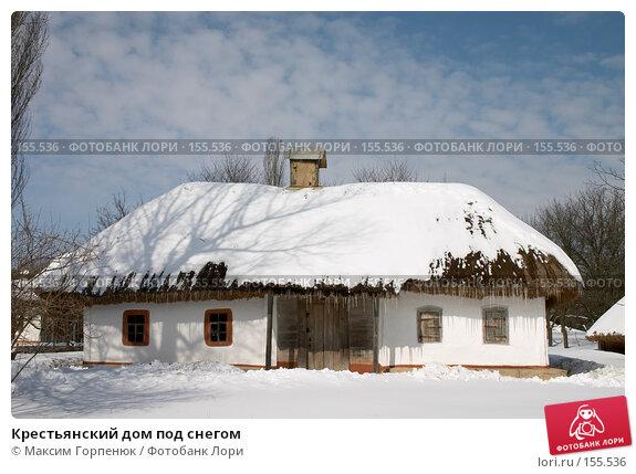 Крестьянский дом под снегом, фото № 155536, снято 16 марта 2005 г. (c) Максим Горпенюк / Фотобанк Лори