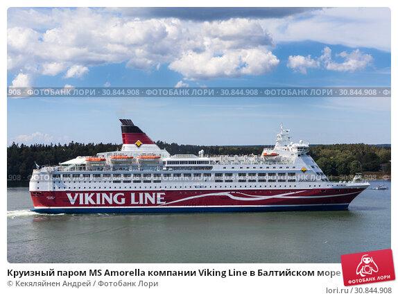 Круизный паром MS Amorella компании Viking Line в Балтийском море (2018 год). Редакционное фото, фотограф Кекяляйнен Андрей / Фотобанк Лори