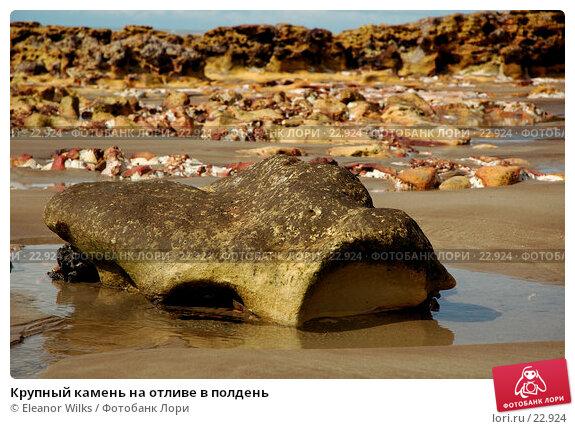 Крупный камень на отливе в полдень, фото № 22924, снято 6 апреля 2007 г. (c) Eleanor Wilks / Фотобанк Лори
