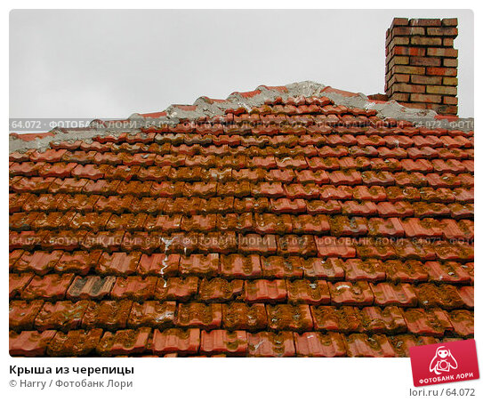Крыша из черепицы, фото № 64072, снято 3 мая 2004 г. (c) Harry / Фотобанк Лори