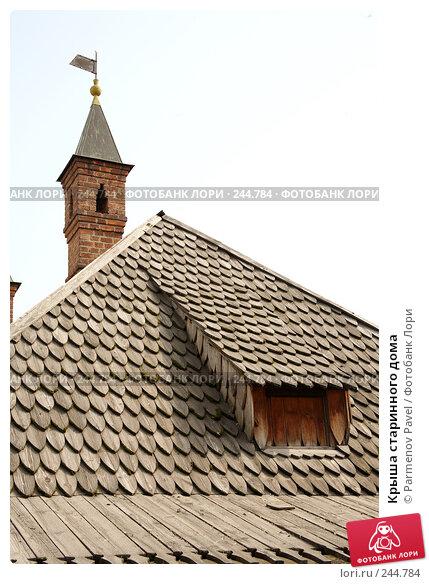 Крыша старинного дома, фото № 244784, снято 4 апреля 2008 г. (c) Parmenov Pavel / Фотобанк Лори
