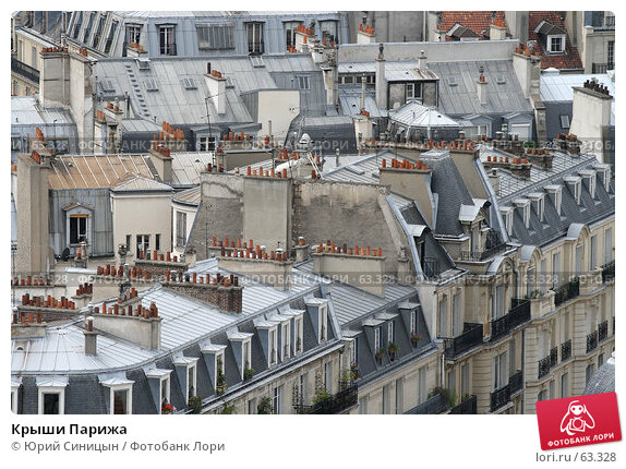 Крыши Парижа, фото № 63328, снято 18 июня 2007 г. (c) Юрий Синицын / Фотобанк Лори