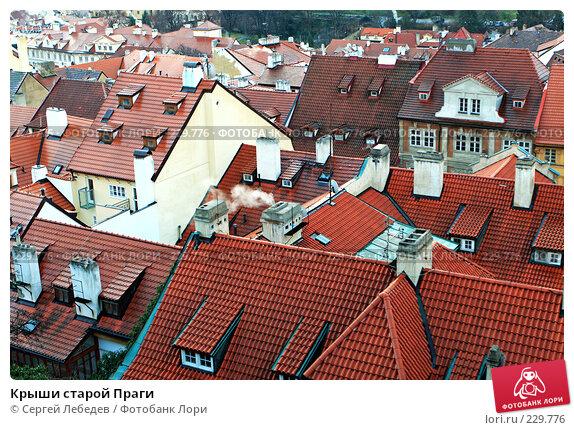 Крыши старой Праги, фото № 229776, снято 31 декабря 2007 г. (c) Сергей Лебедев / Фотобанк Лори