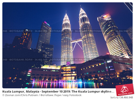 Kuala Lumpur, Malaysia - September 10 2019: The Kuala Lumpur skyline... Стоковое фото, фотограф Zoonar.com/Chris Putnam / easy Fotostock / Фотобанк Лори