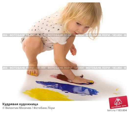 Купить «Кудрявая художница», фото № 183804, снято 12 января 2008 г. (c) Валентин Мосичев / Фотобанк Лори