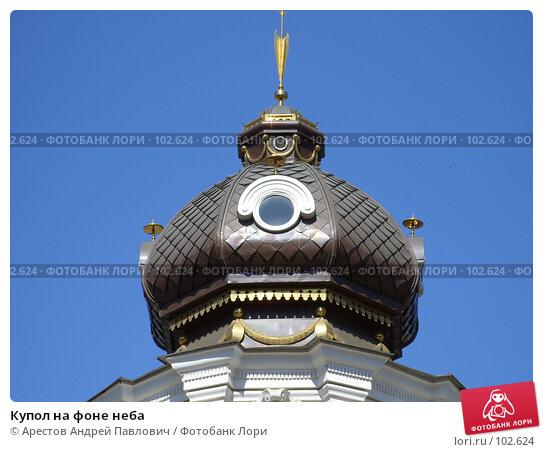 Купол на фоне неба, фото № 102624, снято 26 июля 2017 г. (c) Арестов Андрей Павлович / Фотобанк Лори