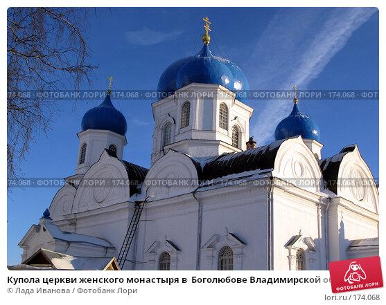 Купола церкви женского монастыря в  Боголюбове Владимирской области, фото № 174068, снято 3 января 2008 г. (c) Лада Иванова / Фотобанк Лори