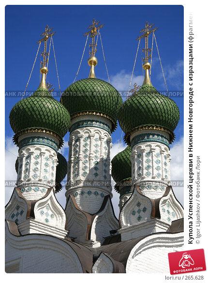 Купить «Купола Успенской церкви в Нижнем Новгороде с изразцами (фрагмент)», фото № 265628, снято 25 апреля 2008 г. (c) Igor Lijashkov / Фотобанк Лори