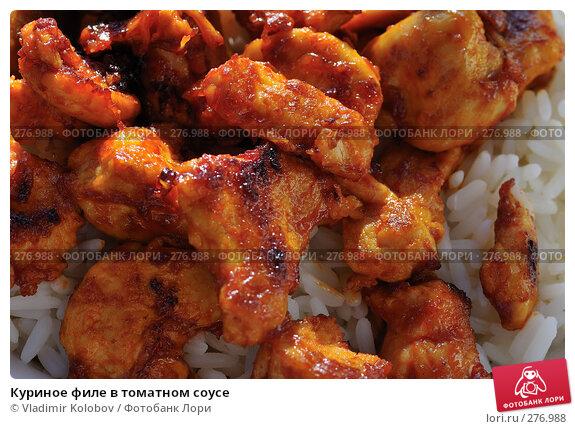 Куриное филе в томатном соусе, фото № 276988, снято 2 мая 2008 г. (c) Vladimir Kolobov / Фотобанк Лори
