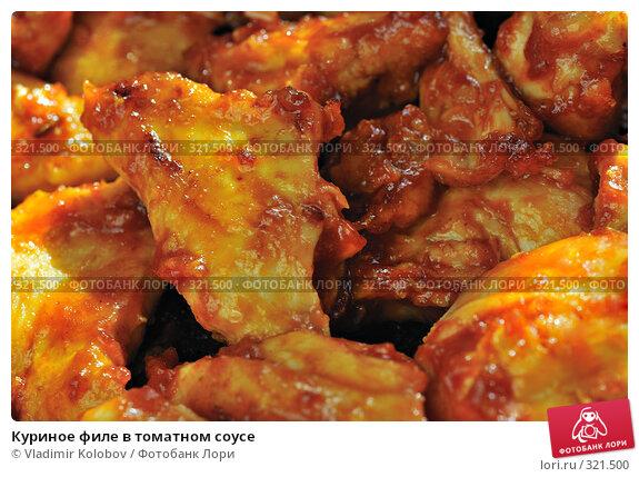 Куриное филе в томатном соусе, фото № 321500, снято 2 мая 2008 г. (c) Vladimir Kolobov / Фотобанк Лори