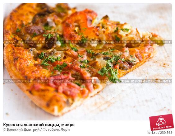 Кусок итальянской пиццы, макро, фото № 230568, снято 23 марта 2008 г. (c) Баевский Дмитрий / Фотобанк Лори