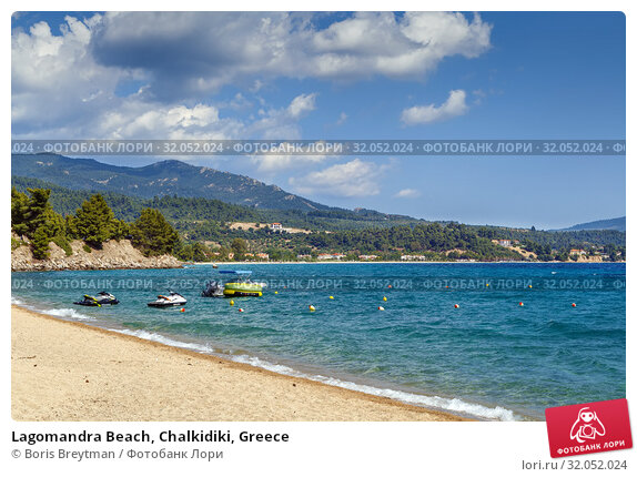 Lagomandra Beach, Chalkidiki, Greece (2019 год). Стоковое фото, фотограф Boris Breytman / Фотобанк Лори