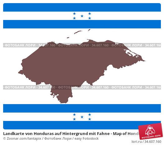 Landkarte von Honduras auf Hintergrund mit Fahne - Map of Honduras... Стоковое фото, фотограф Zoonar.com/lantapix / easy Fotostock / Фотобанк Лори