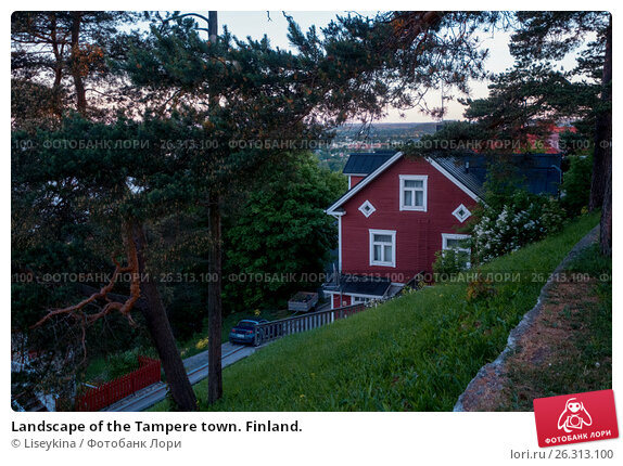 Купить «Landscape of the Tampere town. Finland.», фото № 26313100, снято 12 июня 2016 г. (c) Liseykina / Фотобанк Лори