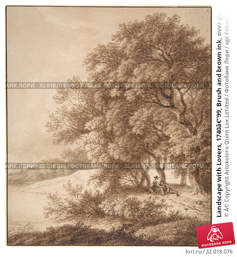 Купить «Landscape with Lovers, 1740–99, Brush and brown ink, over graphite or black chalk. Framing line in pen and black ink., sheet: 7 11/16 x 6 9/16 in. (19...», фото № 32018076, снято 26 апреля 2017 г. (c) age Fotostock / Фотобанк Лори