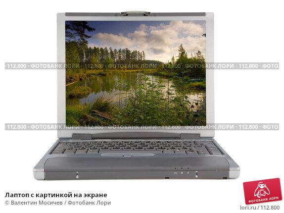 Лаптоп с картинкой на экране, фото № 112800, снято 16 февраля 2007 г. (c) Валентин Мосичев / Фотобанк Лори