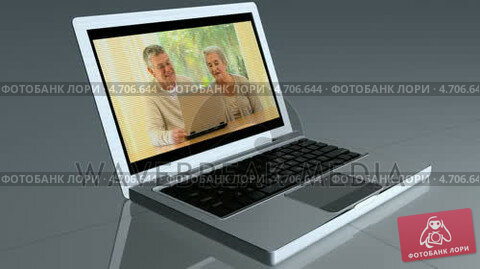 Купить «Laptop shows a couple looking at a laptop before changing to show the couple embraced by children», видеоролик № 4706644, снято 25 апреля 2019 г. (c) Wavebreak Media / Фотобанк Лори